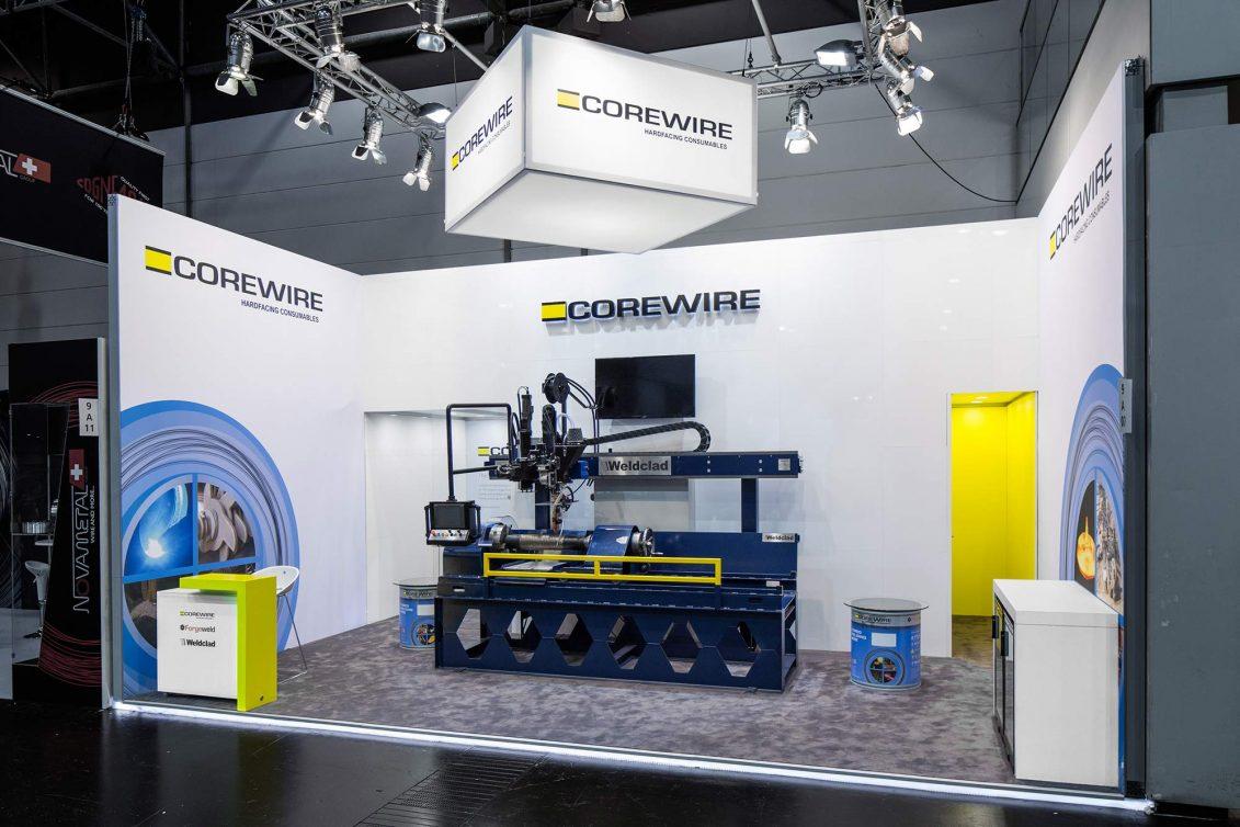 Messestand Corewire Schweißen Schneiden 2017 Düsseldorf