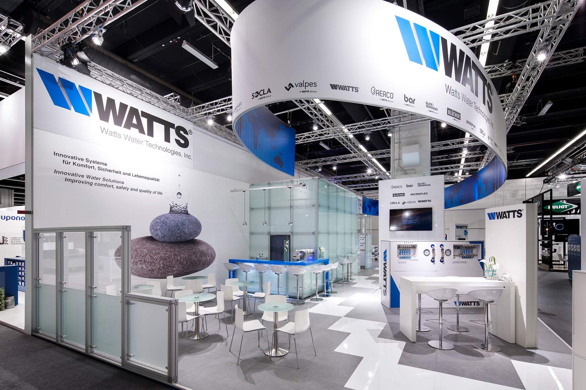 Messestand Watts ISH 2017 Frankfurt