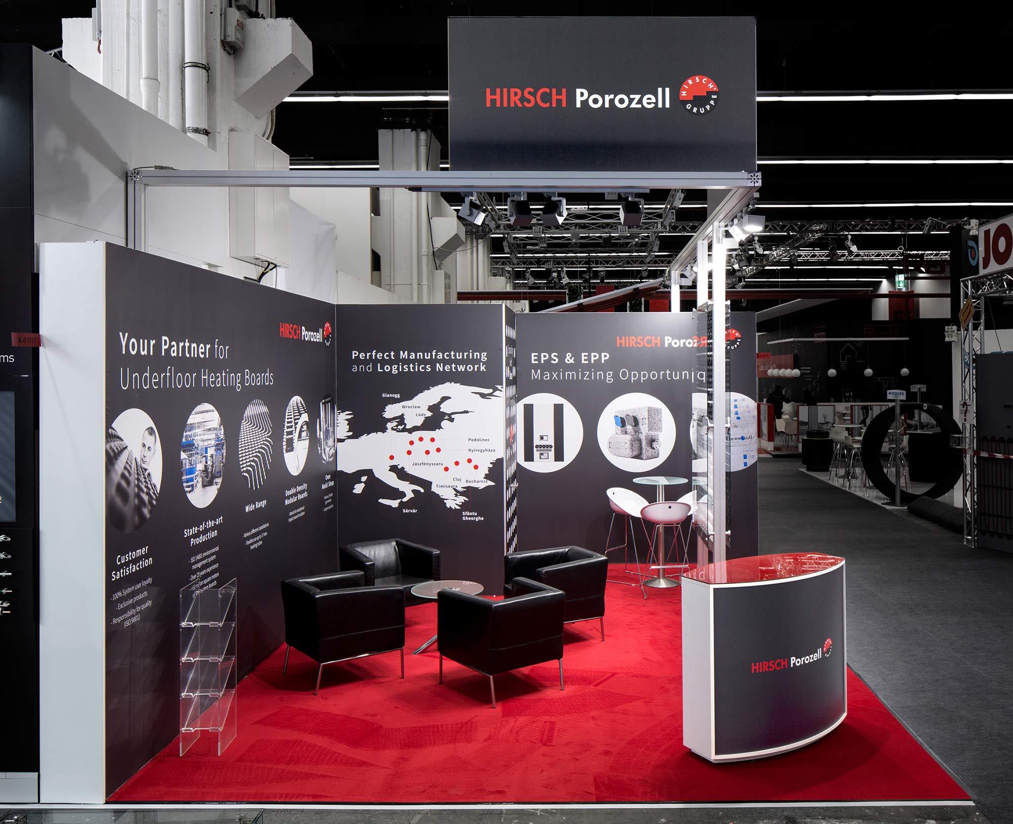 Messestand Hirsch Porozell ISH 2017 Frankfurt
