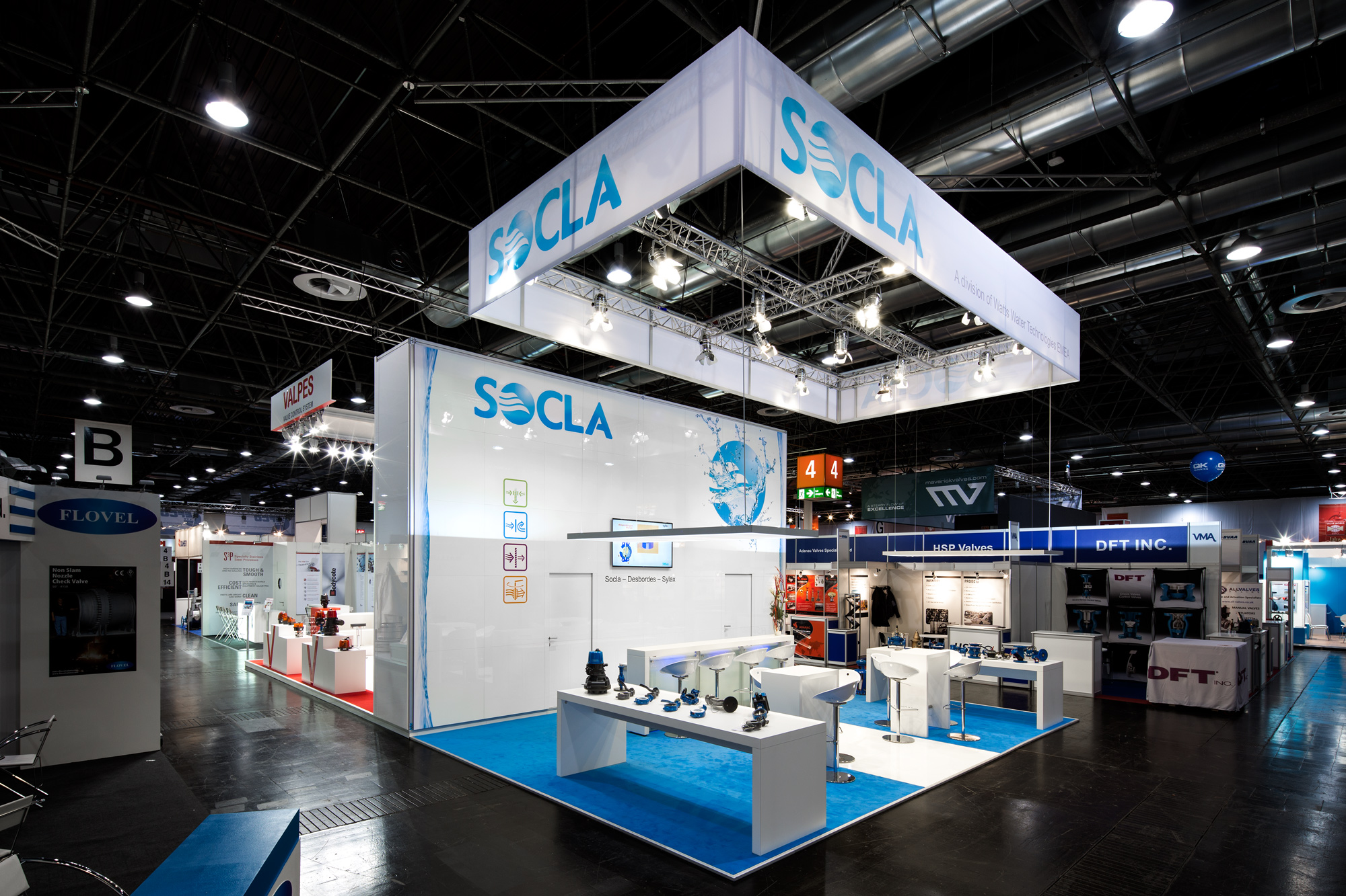Messestand Socla Valve World 2014 Düsseldorf