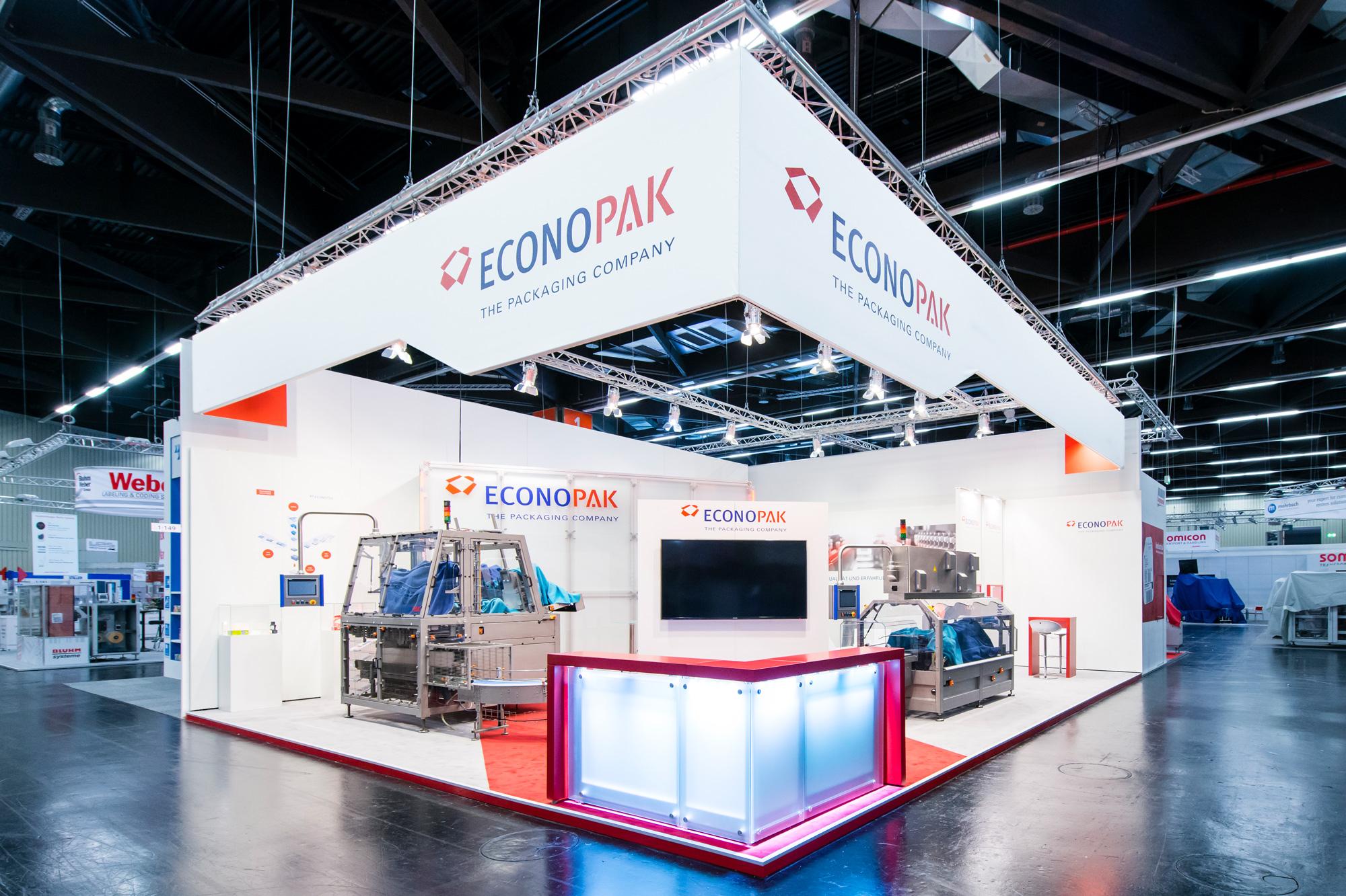 Messestand Econo-Pak Fachpack 2015 Nürnberg
