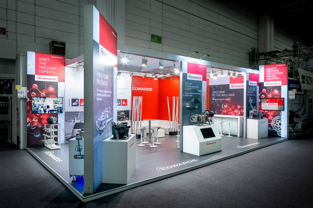 Trade Fair Stand Edwards Achema 2018 Frankfurt
