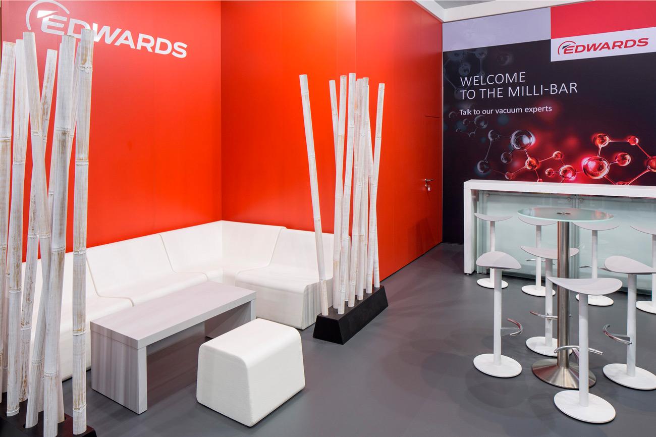 Messestand Edwards Achema 2018 Frankfurt