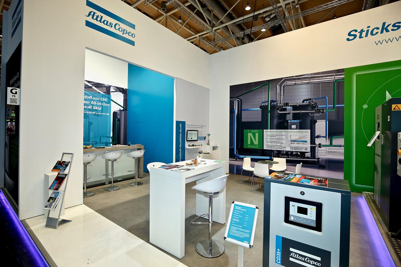 Messestand Atlas Copco Euroblech 2018 Hannover