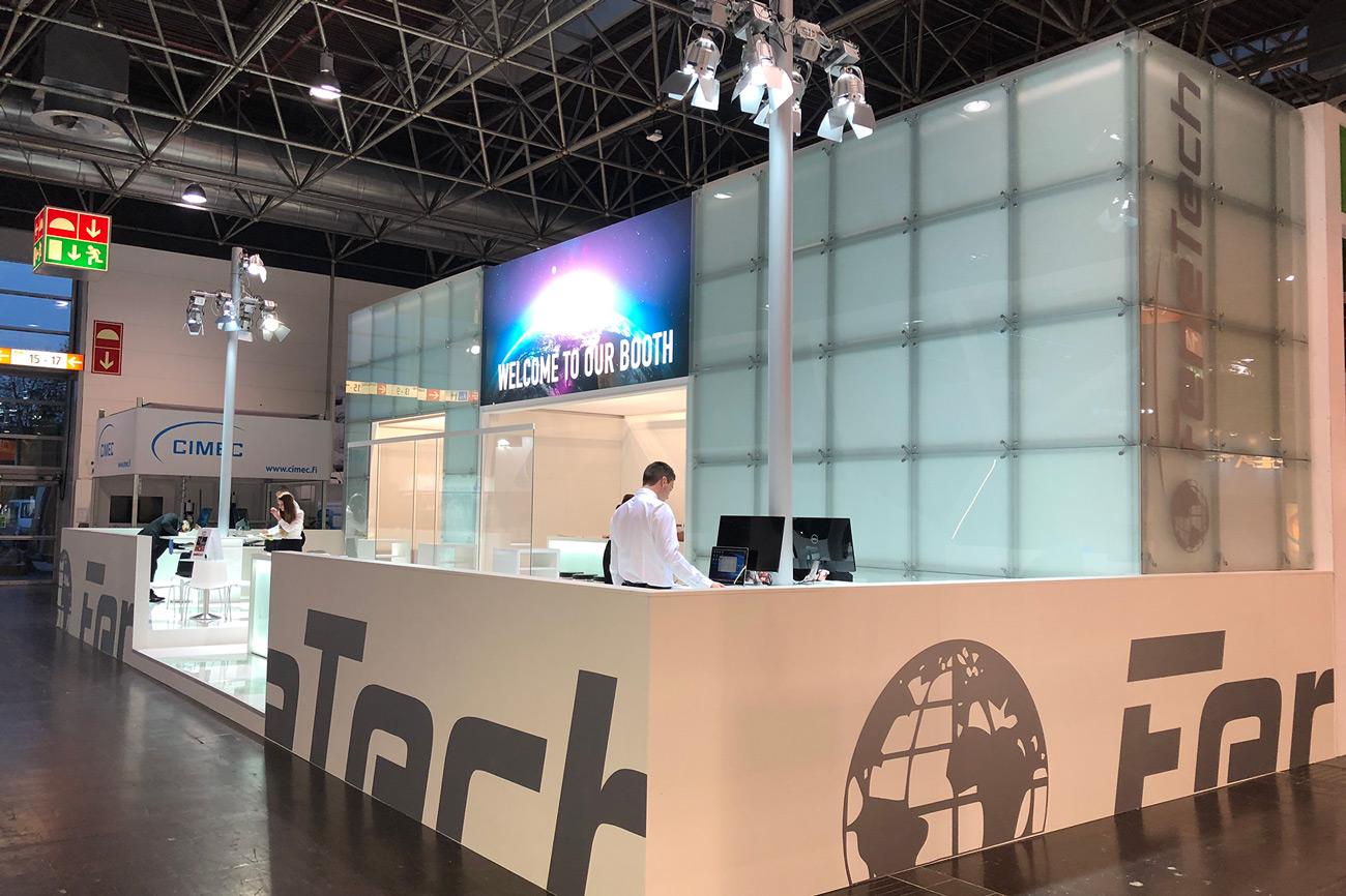 Messestand FeneTech Glastech 2018 Düsseldorf