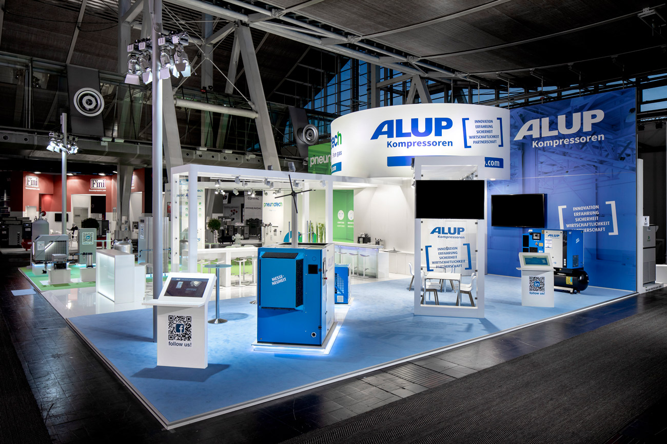 Messestand Alup HMI 2019 Hannover