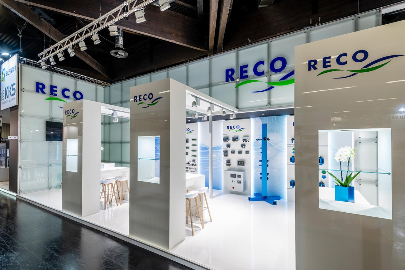 Messestand Reco Powtech 2019 Nürnberg