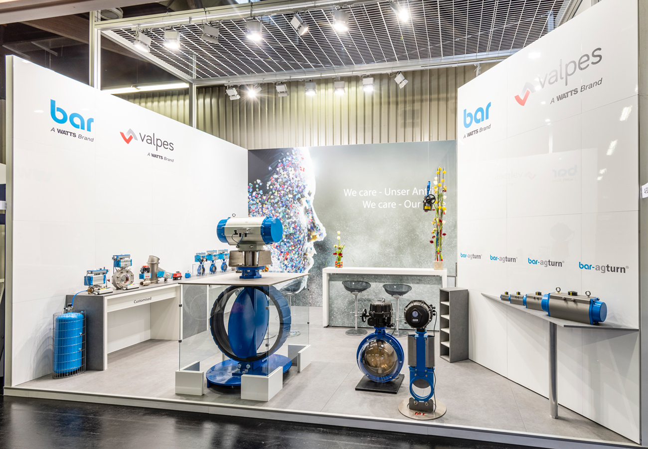 Messestand bar Powtech 2019 Nürnberg