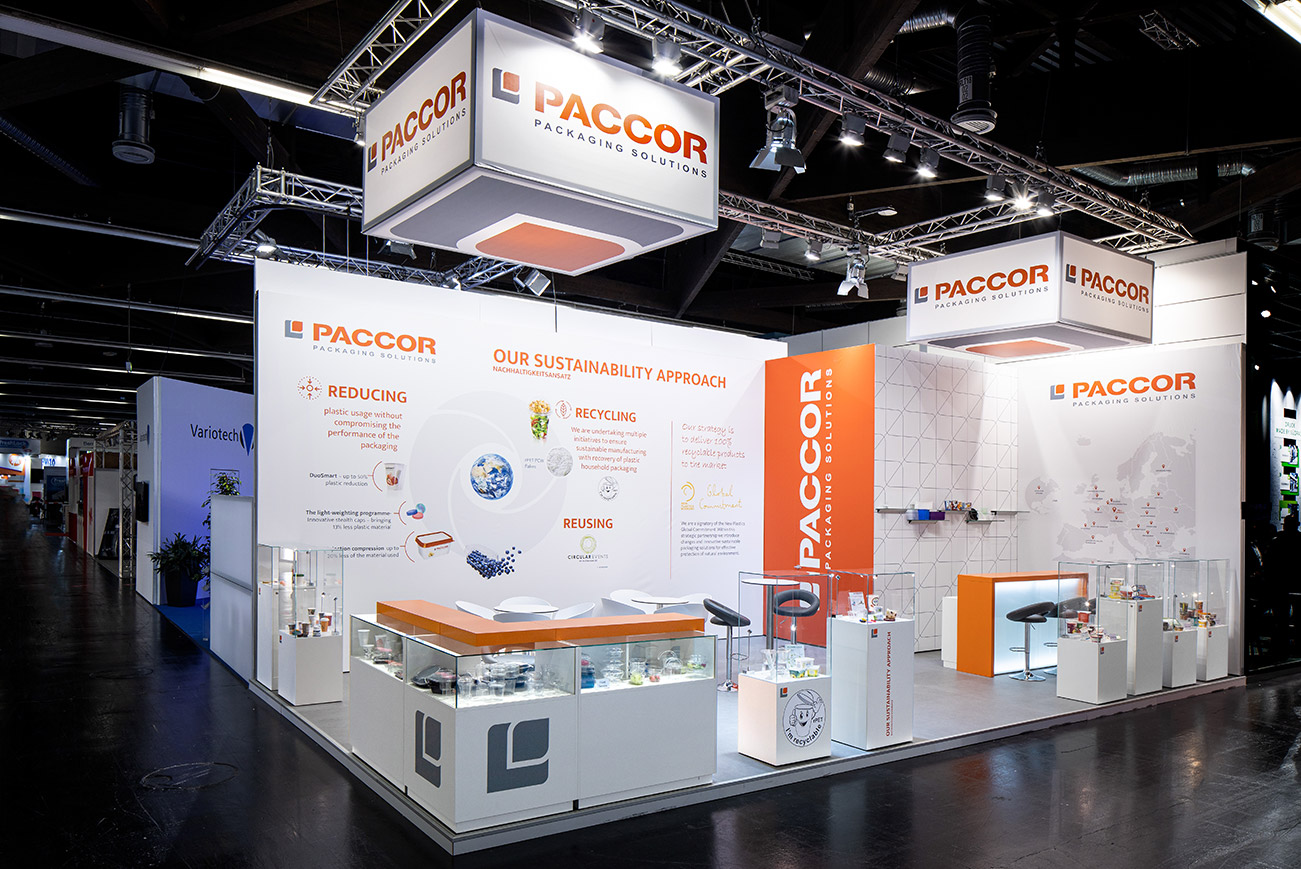 Messestand Paccor Fachpack 2019 Nürnberg