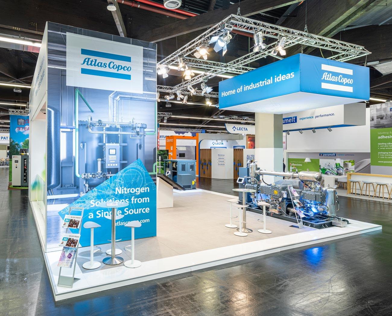 Messestand Atlas Copco Brau Beviale Nürnberg 2019