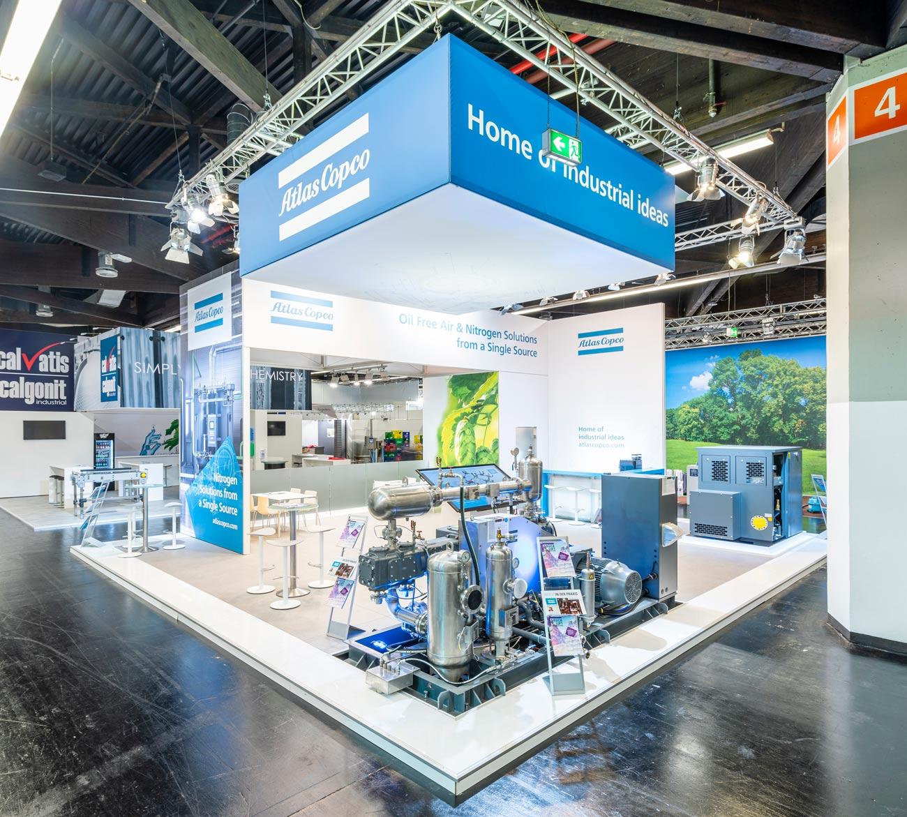 Trade fair stand Atlas Copco Brau Beviale 2019