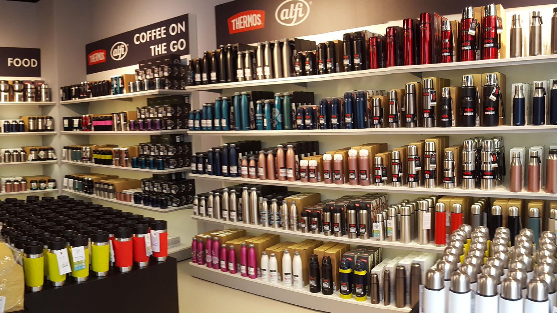 Store interior Alfi Thermos Outlet Rostock